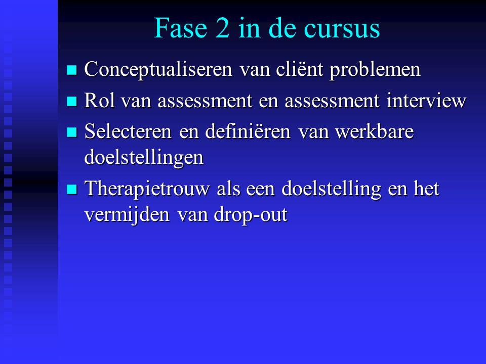 Fase 2 in de cursus Conceptualiseren van cliënt problemen