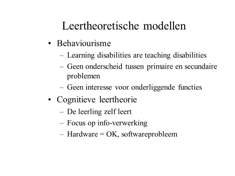 Leertheoretische modellen