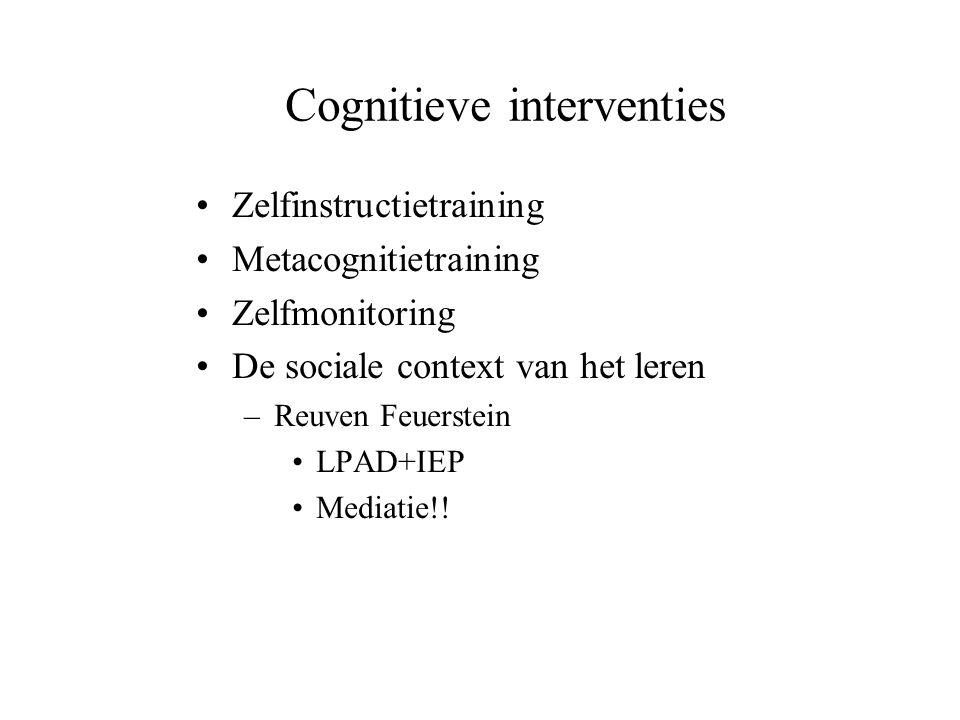 Cognitieve interventies