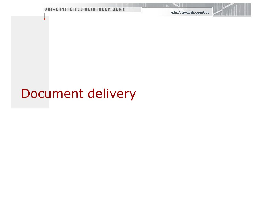 Document delivery