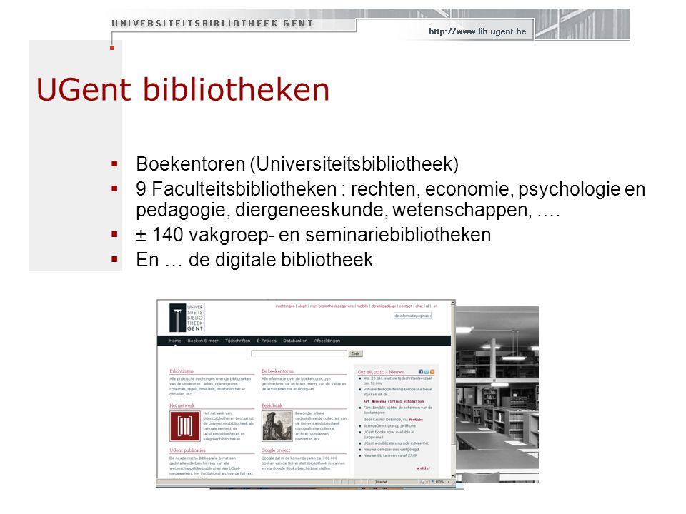UGent bibliotheken Boekentoren (Universiteitsbibliotheek)