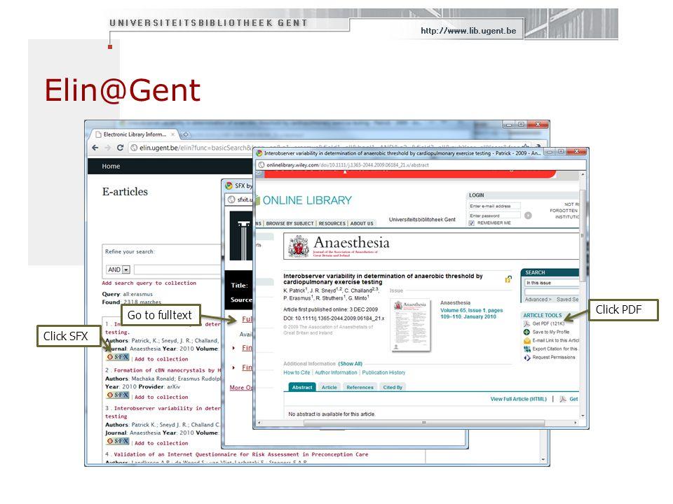 Elin@Gent Click PDF Go to fulltext Click SFX