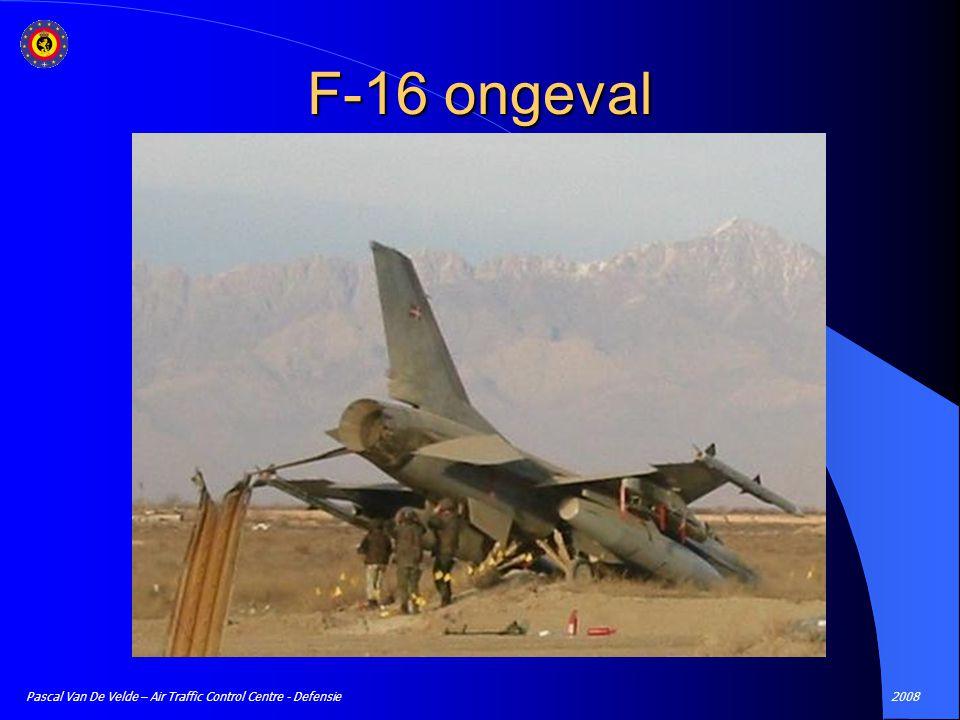 F-16 ongeval Pascal Van De Velde – Air Traffic Control Centre - Defensie 2008