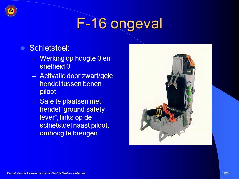 F-16 ongeval Schietstoel: Werking op hoogte 0 en snelheid 0