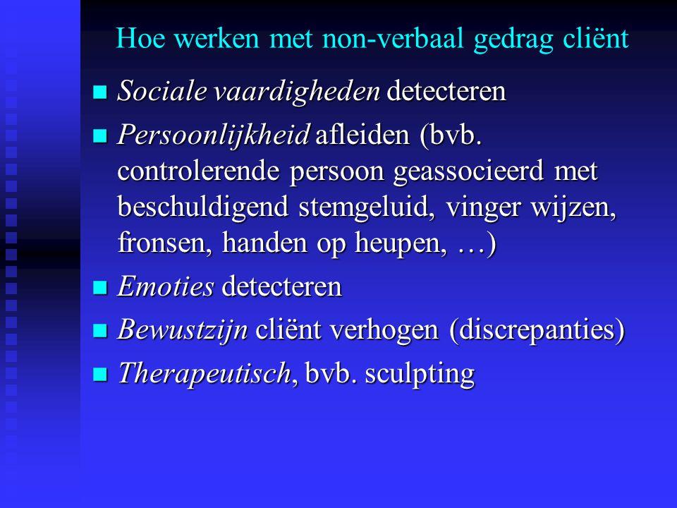 Hoe werken met non-verbaal gedrag cliënt
