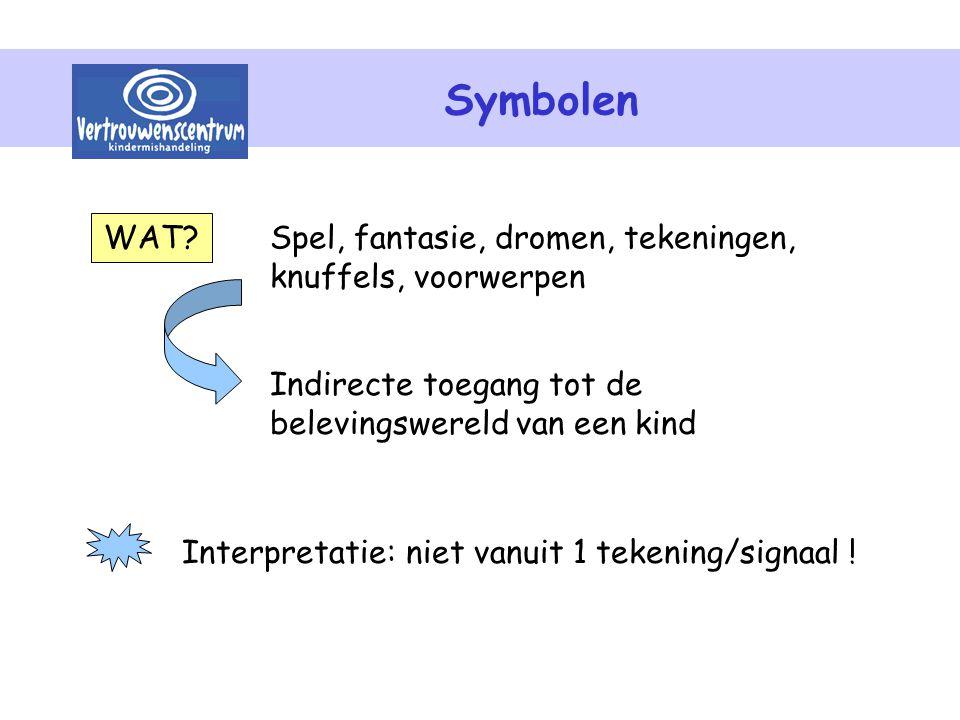 Symbolen WAT Spel, fantasie, dromen, tekeningen, knuffels, voorwerpen
