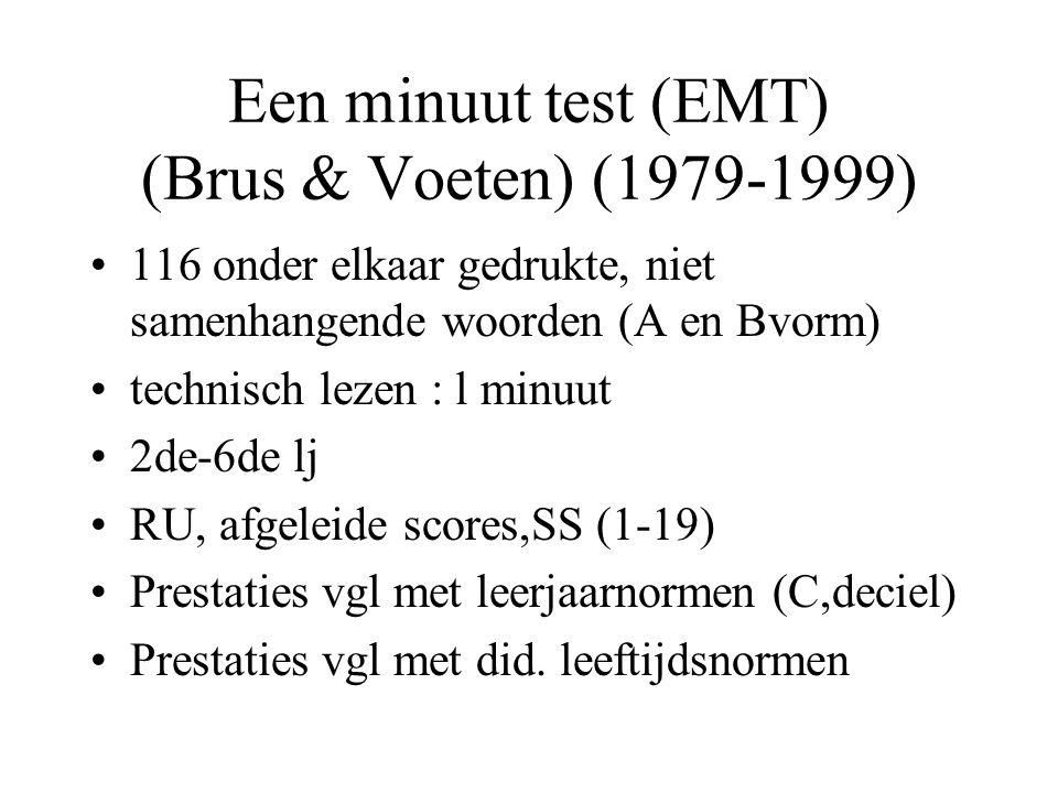 Een minuut test (EMT) (Brus & Voeten) (1979-1999)
