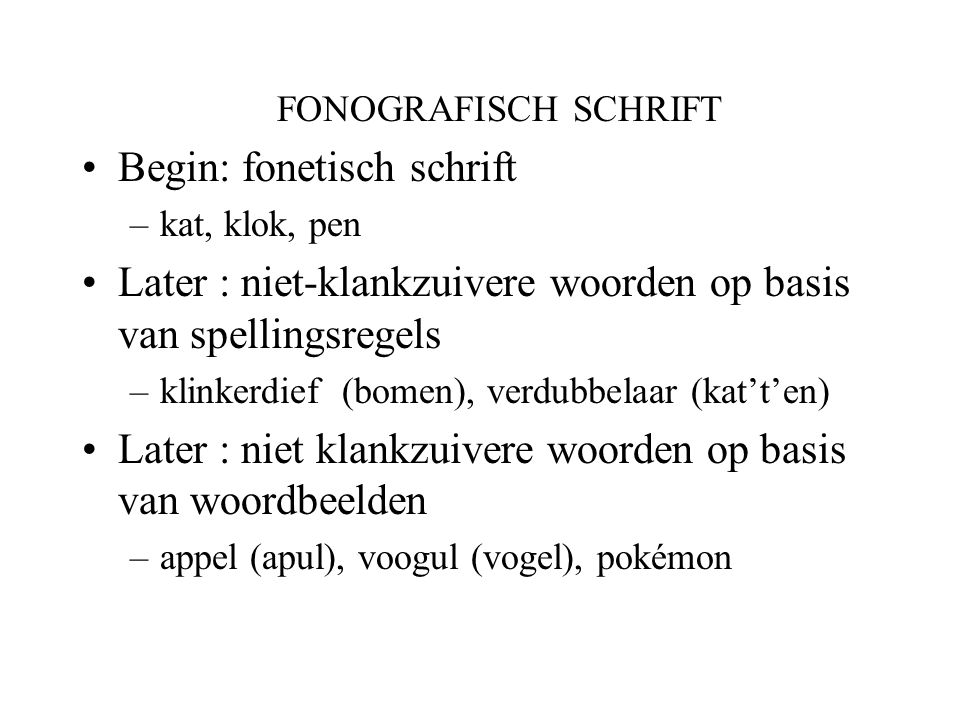 Begin: fonetisch schrift