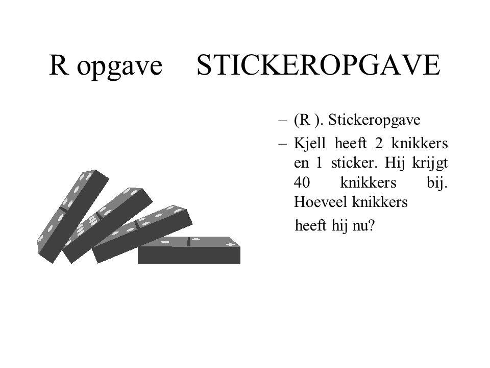 R opgave STICKEROPGAVE