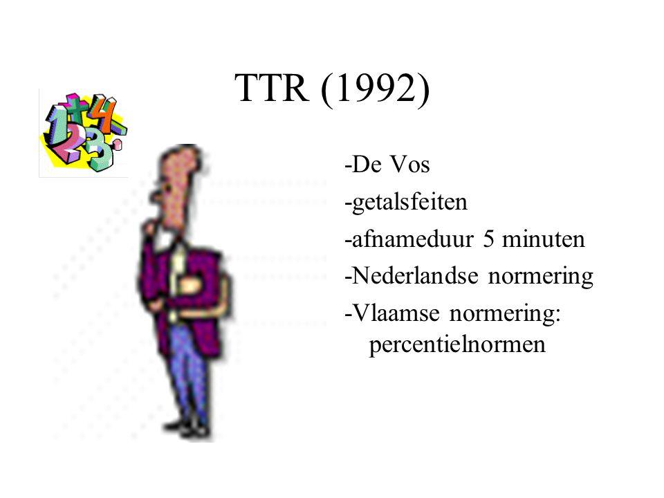 TTR (1992) -De Vos -getalsfeiten -afnameduur 5 minuten