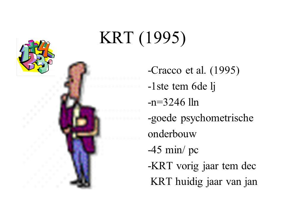 KRT (1995) -Cracco et al. (1995) -1ste tem 6de lj -n=3246 lln
