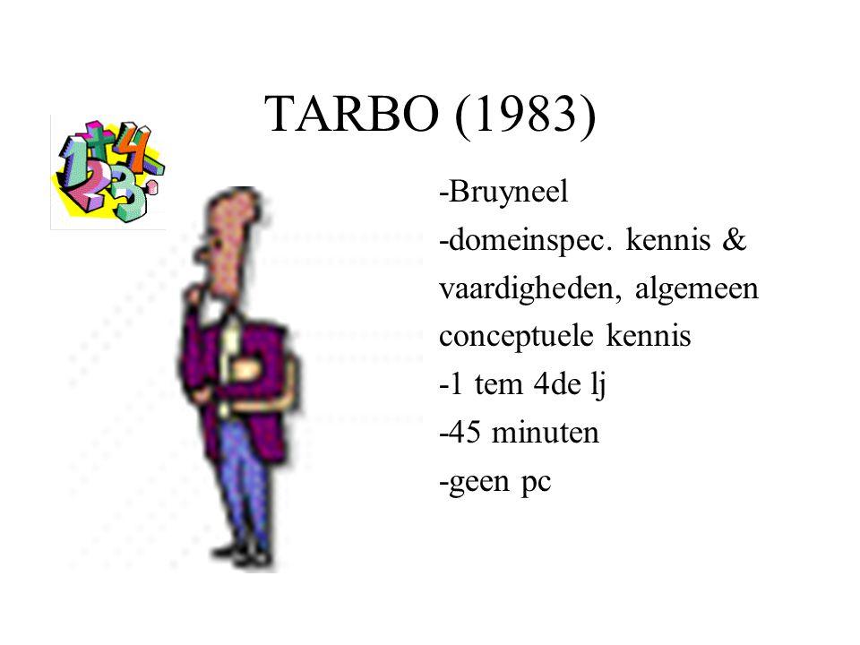 TARBO (1983) -Bruyneel -domeinspec. kennis & vaardigheden, algemeen