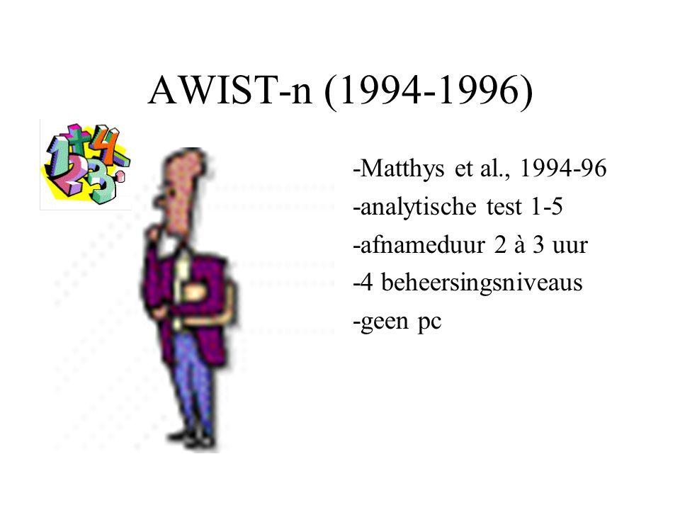 AWIST-n (1994-1996) -Matthys et al., 1994-96 -analytische test 1-5