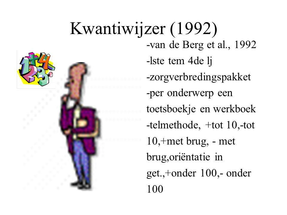 Kwantiwijzer (1992) -van de Berg et al., 1992 -lste tem 4de lj