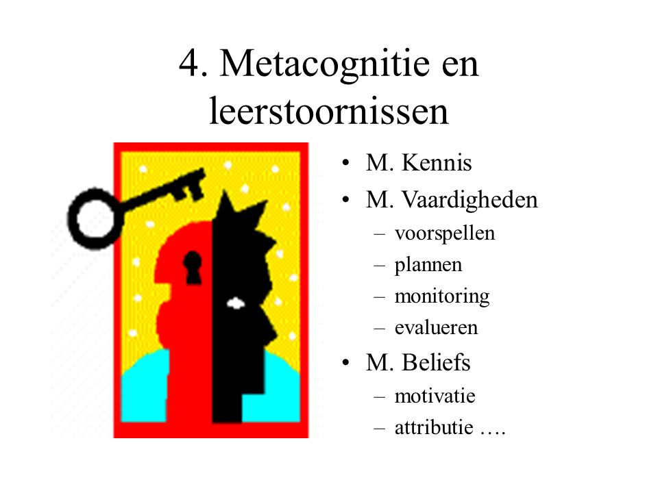 4. Metacognitie en leerstoornissen