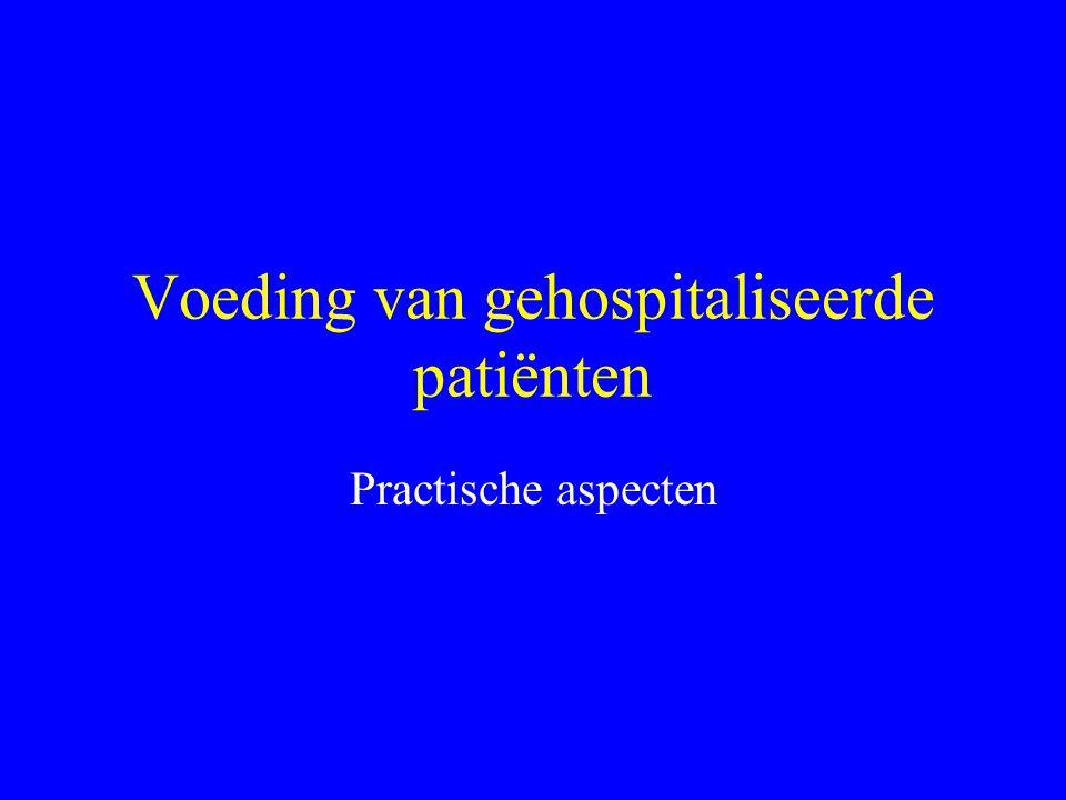 Voeding van gehospitaliseerde patiënten
