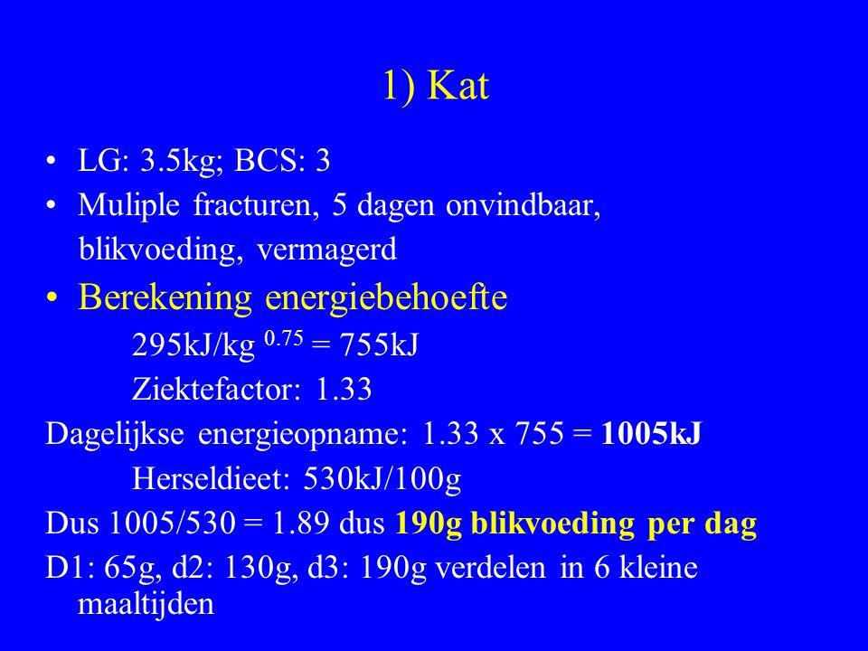 1) Kat Berekening energiebehoefte LG: 3.5kg; BCS: 3