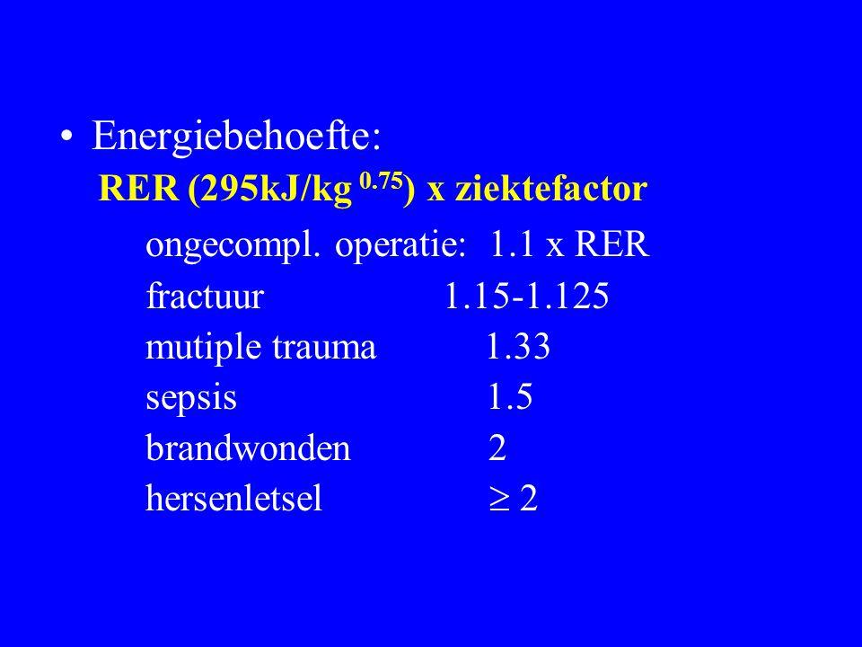 ongecompl. operatie: 1.1 x RER