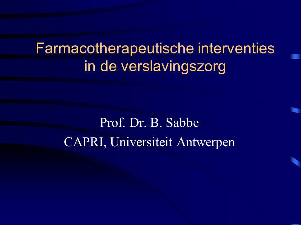 Farmacotherapeutische interventies in de verslavingszorg