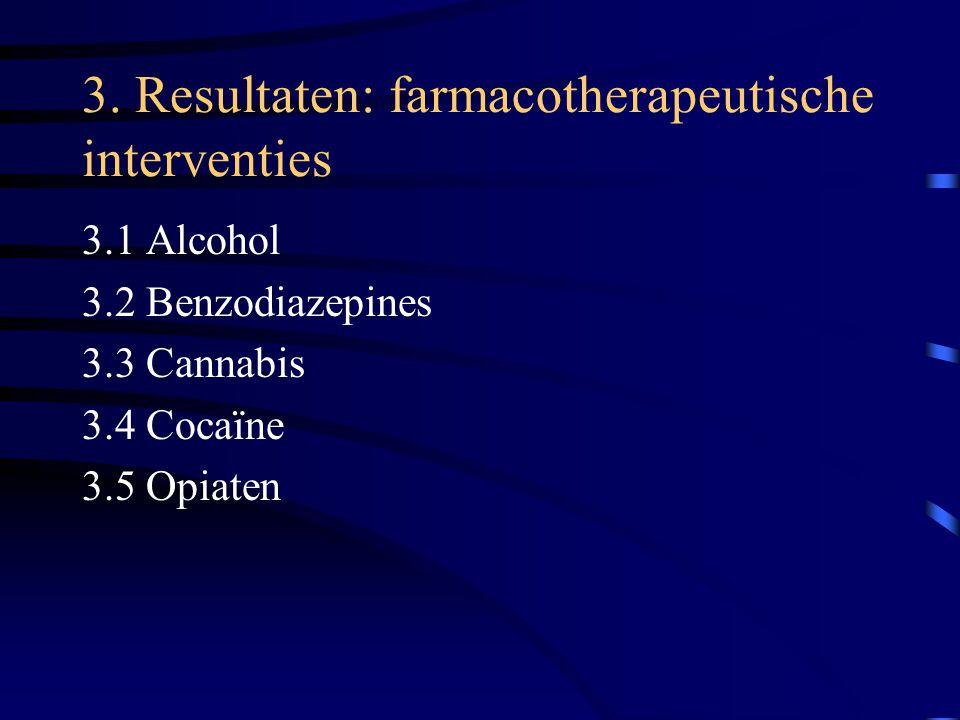 3. Resultaten: farmacotherapeutische interventies