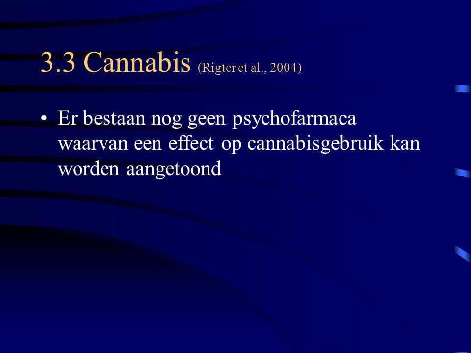 3.3 Cannabis (Rigter et al., 2004)