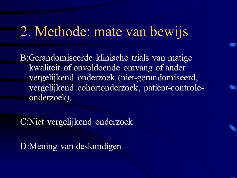 2. Methode: mate van bewijs