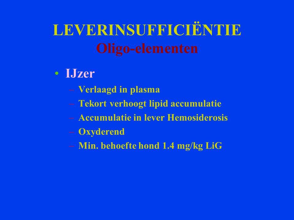 LEVERINSUFFICIËNTIE Oligo-elementen