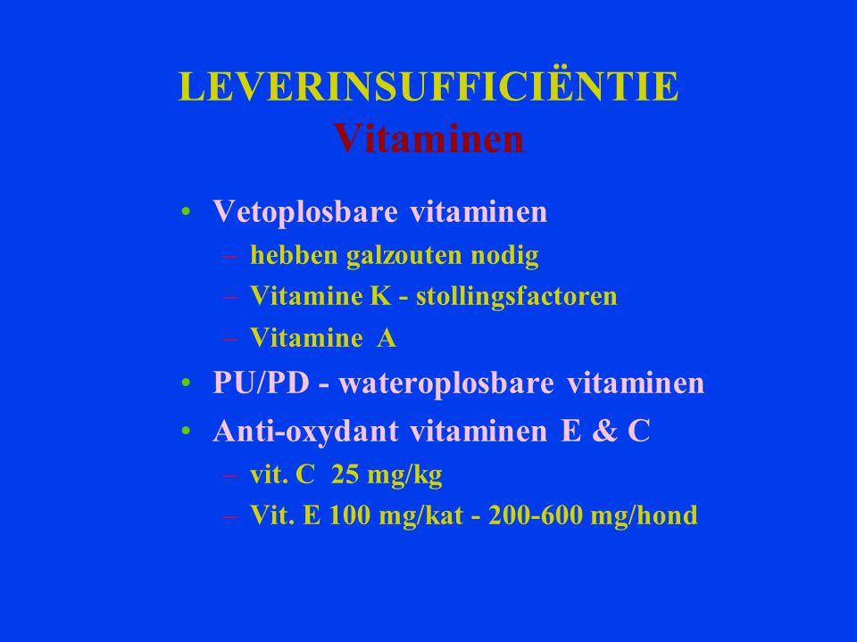 LEVERINSUFFICIËNTIE Vitaminen