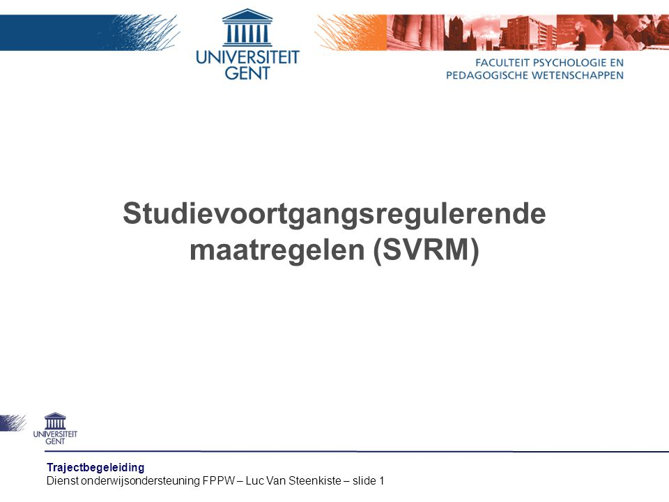 Studievoortgangsregulerende maatregelen (SVRM)