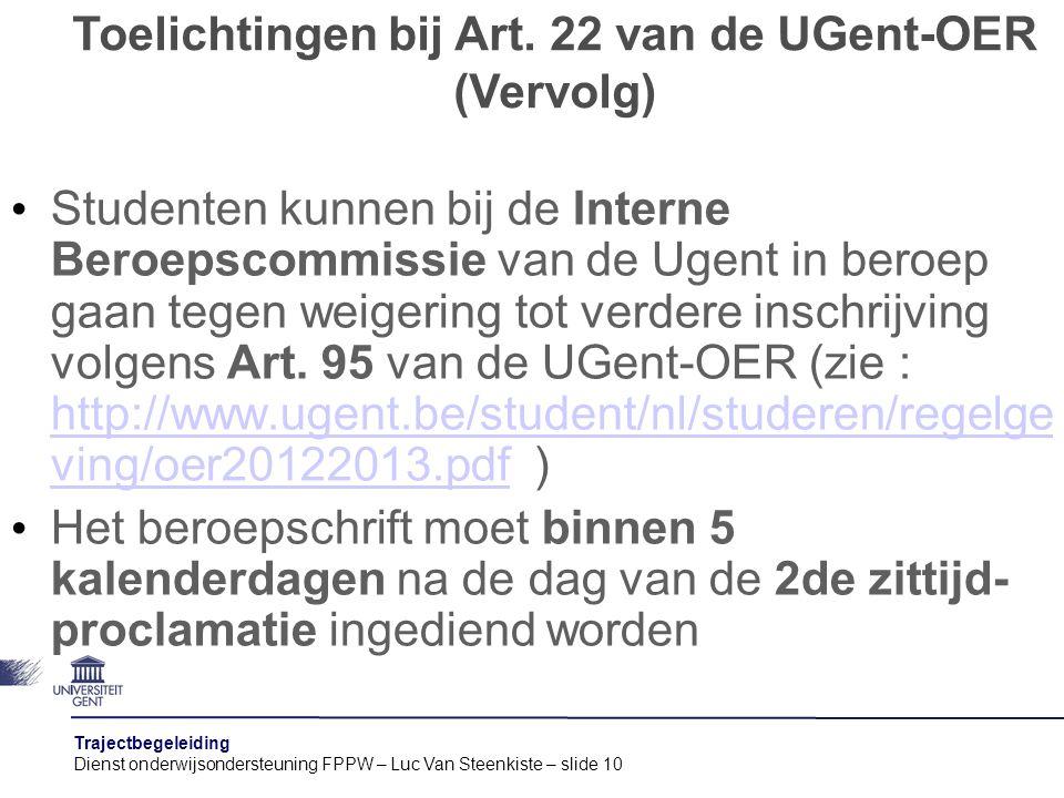 Toelichtingen bij Art. 22 van de UGent-OER