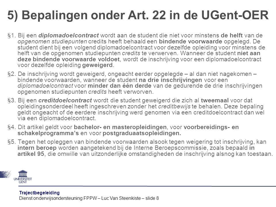 5) Bepalingen onder Art. 22 in de UGent-OER