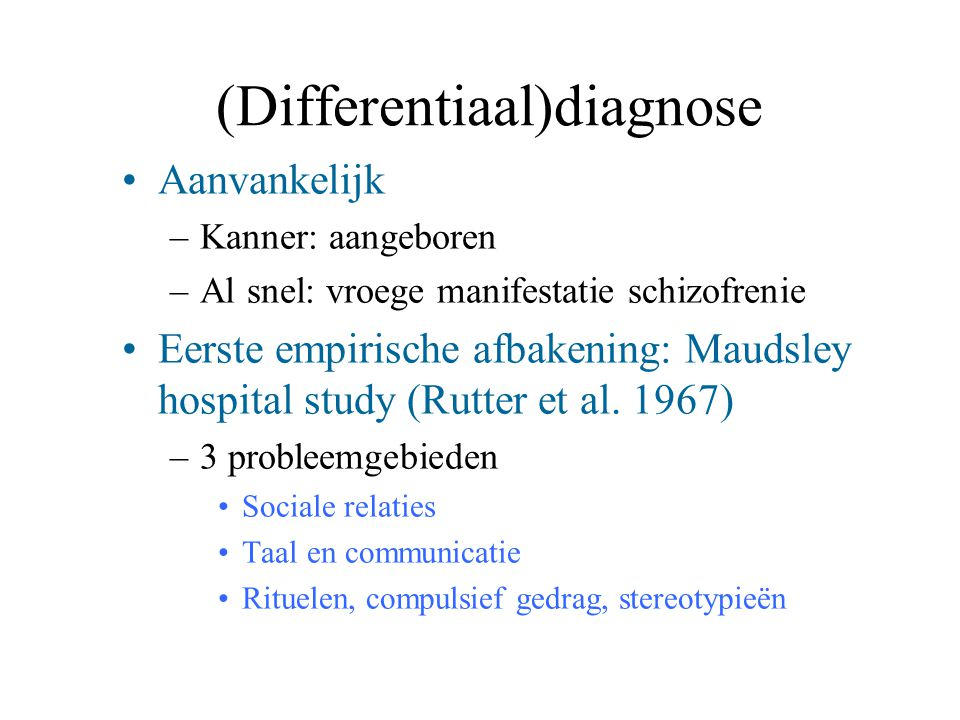 (Differentiaal)diagnose
