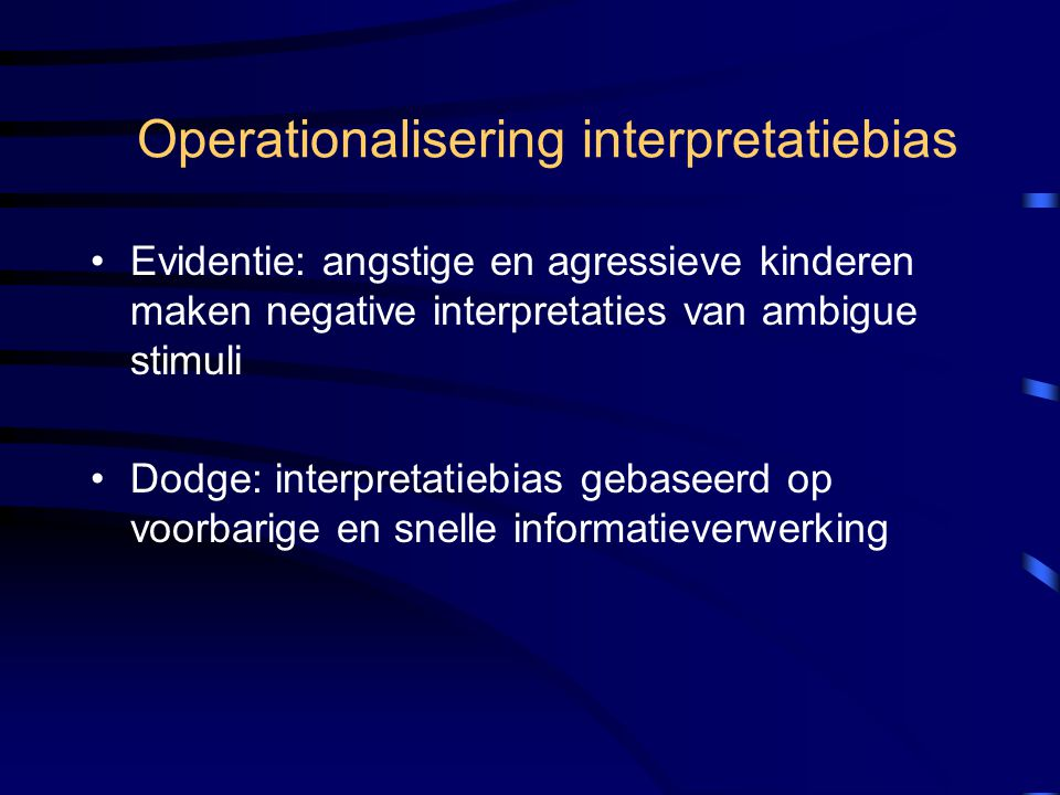 Operationalisering interpretatiebias