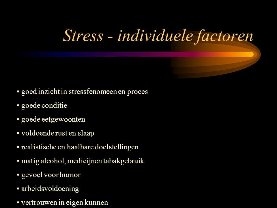 Stress - individuele factoren