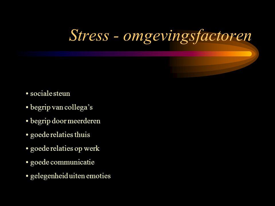 Stress - omgevingsfactoren