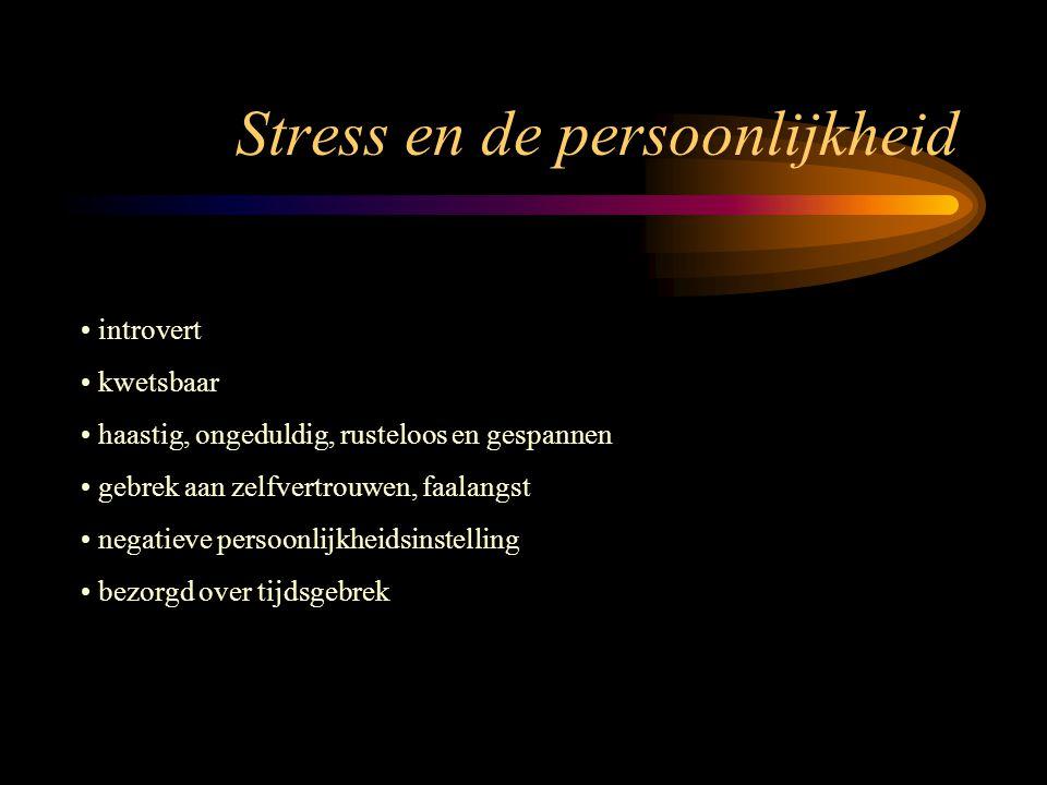 Stress en de persoonlijkheid