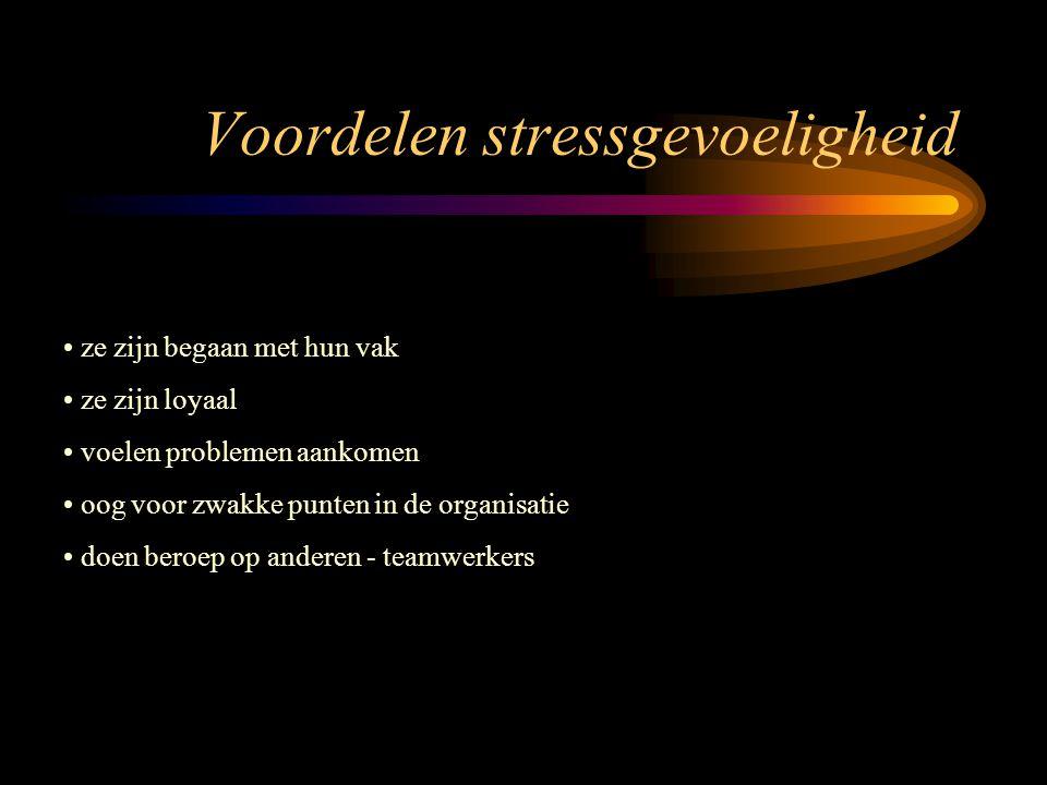 Voordelen stressgevoeligheid