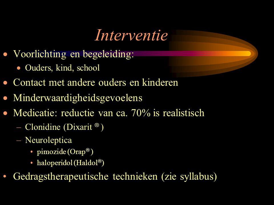 Interventie Voorlichting en begeleiding: