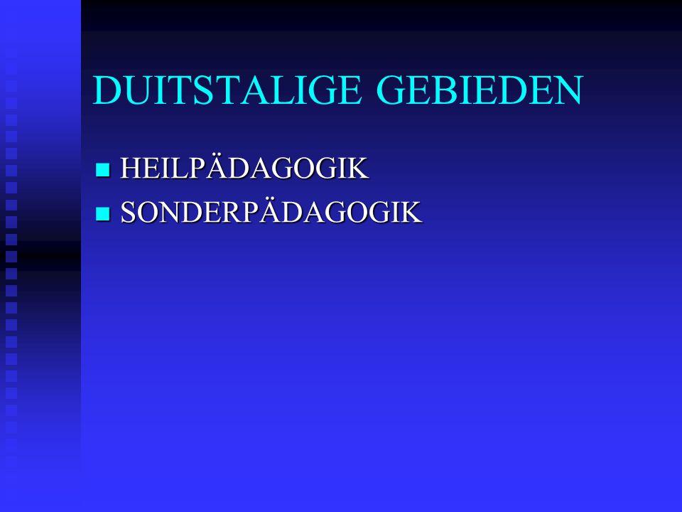 DUITSTALIGE GEBIEDEN HEILPÄDAGOGIK SONDERPÄDAGOGIK