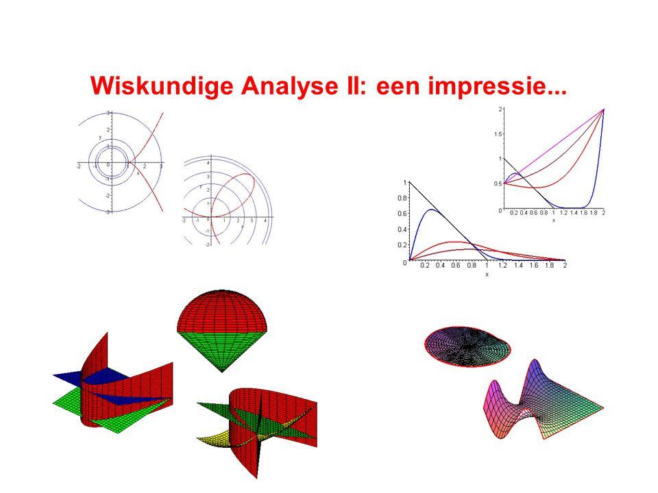 Wiskundige Analyse II: een impressie...