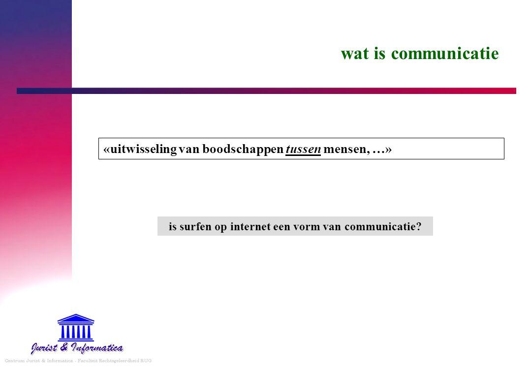 is surfen op internet een vorm van communicatie