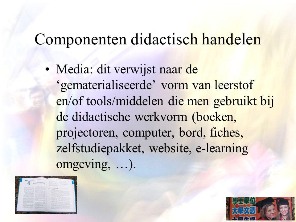 Componenten didactisch handelen