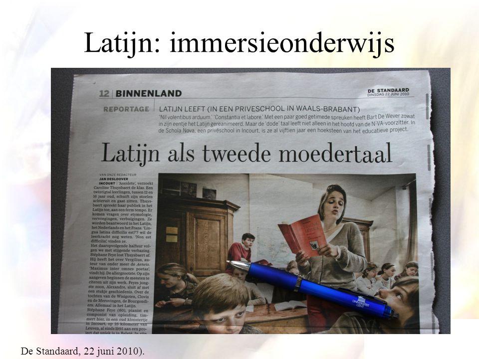 Latijn: immersieonderwijs