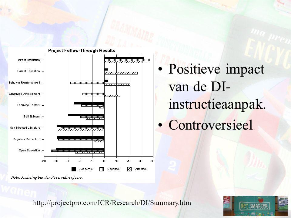 Positieve impact van de DI-instructieaanpak.