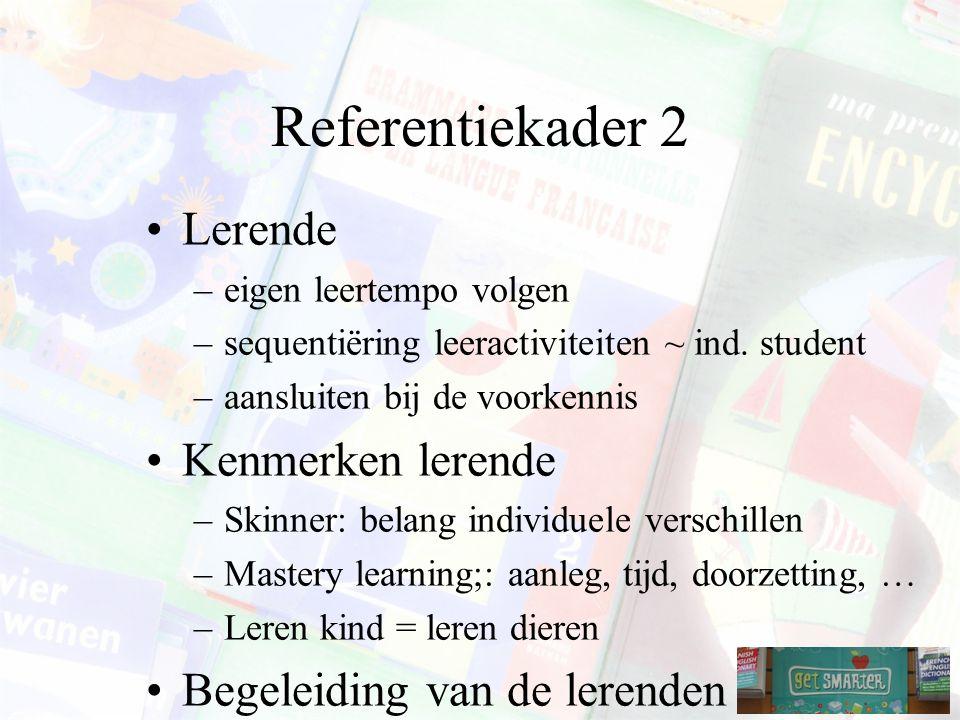 Referentiekader 2 Lerende Kenmerken lerende