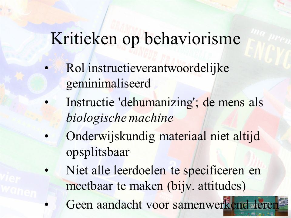 Kritieken op behaviorisme