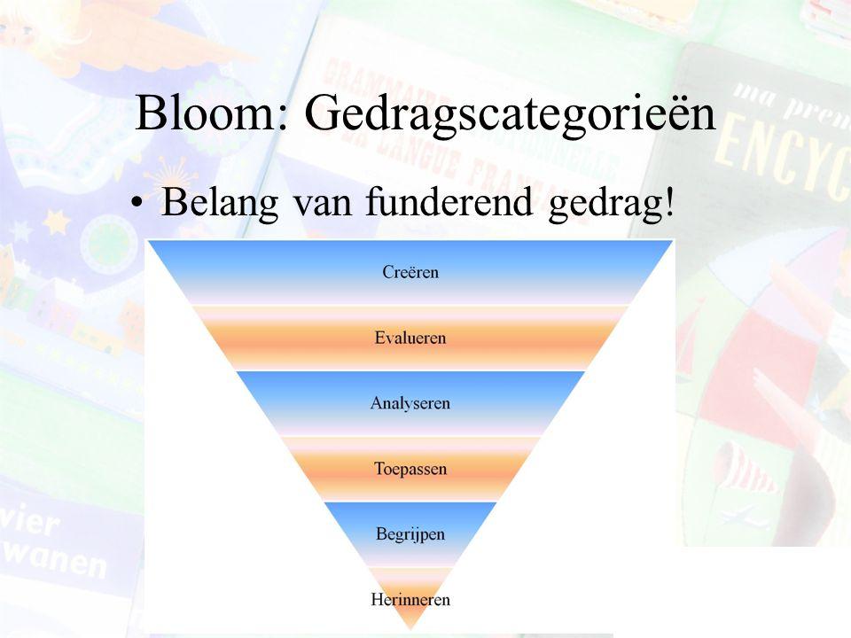 Bloom: Gedragscategorieën