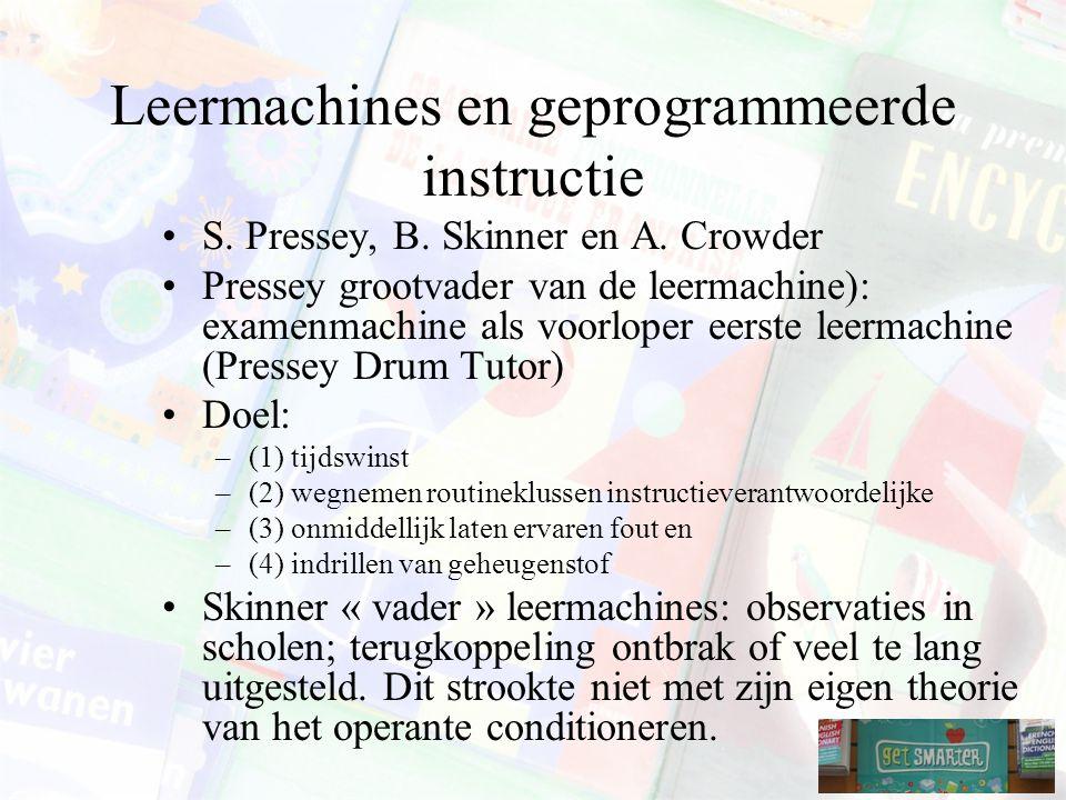 Leermachines en geprogrammeerde instructie