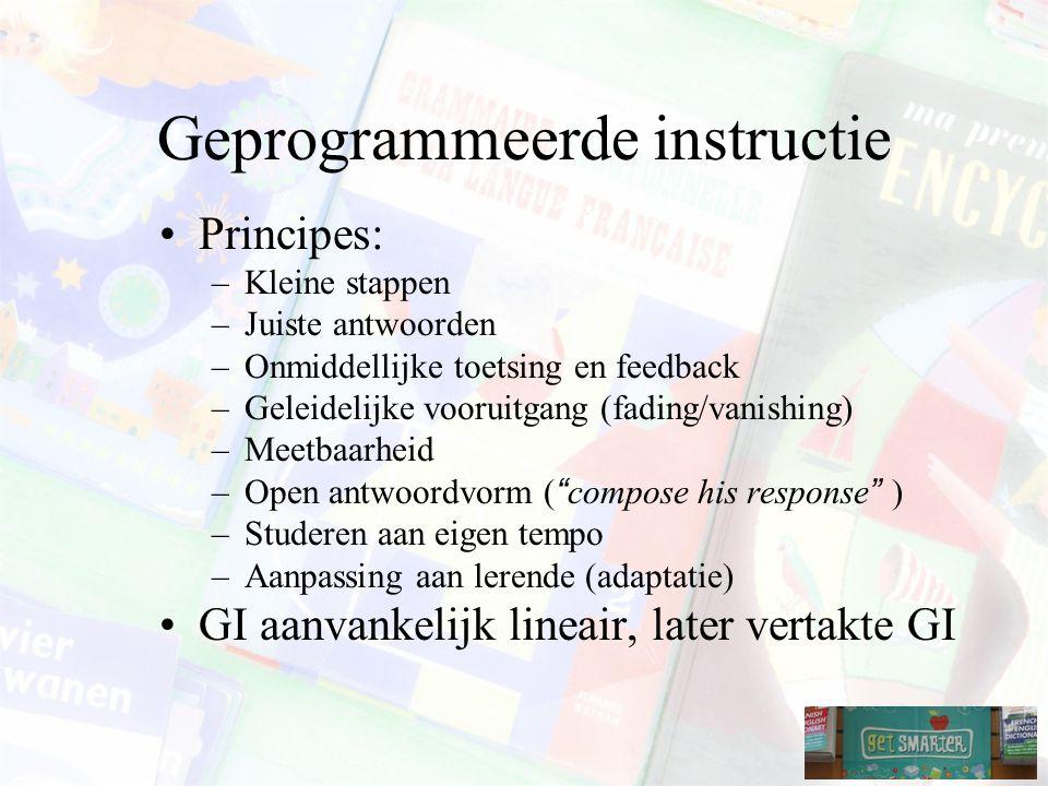 Geprogrammeerde instructie