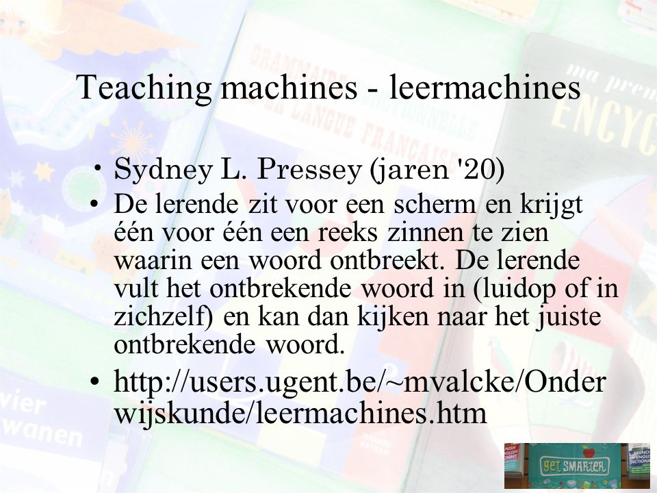 Teaching machines - leermachines